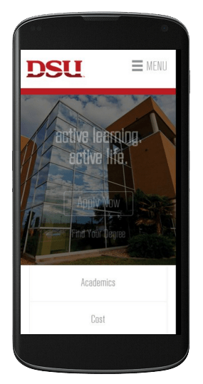 New dsu Construction website on mobile
